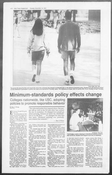 Daily Trojan, Vol. 116, No. 55, November 19, 1991