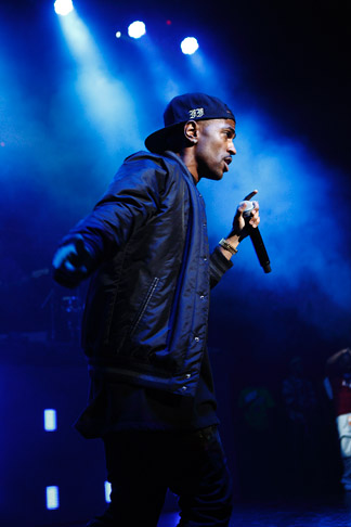 . Big Sean on stage at DTE Energy Music Theatre on Saturday, Aug. 31, 2013. Photo by Ken Settle