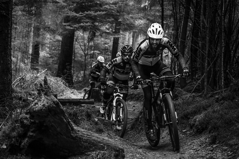 KTM team during a photoshoot in Afan.