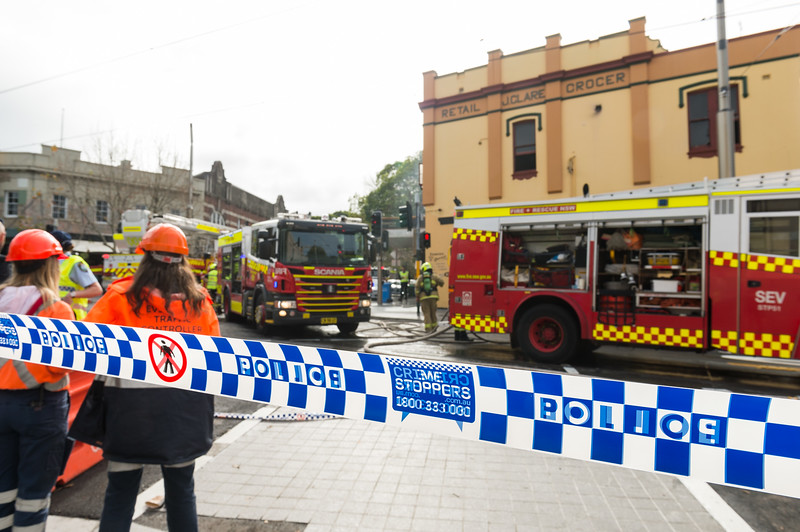 Fire in Surry Hills, Sydney. 4 July 2019