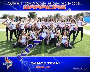 2016-17 Dance Team Pictures