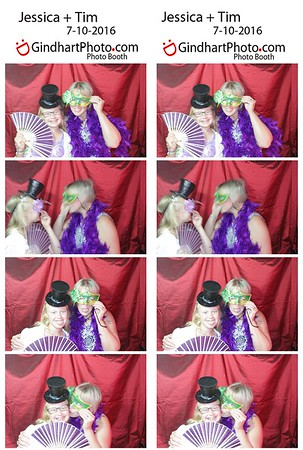 Jessica + Tim's Photo Booth