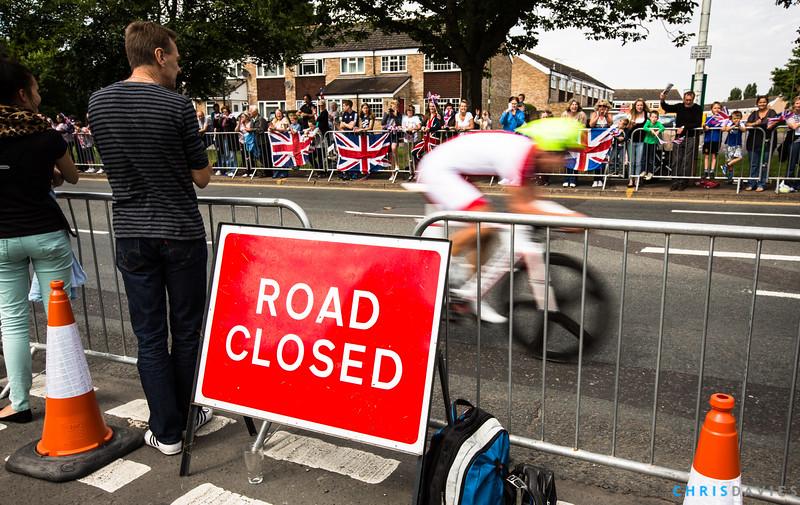 Road Closed Maciej Bodnar (Poland) at the London 2012 Olympics Time Trial