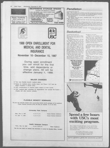 Daily Trojan, Vol. 105, No. 66, December 09, 1987