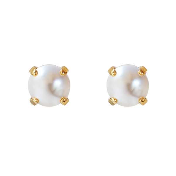 CLASSIC STUD EARRINGS / PEARL