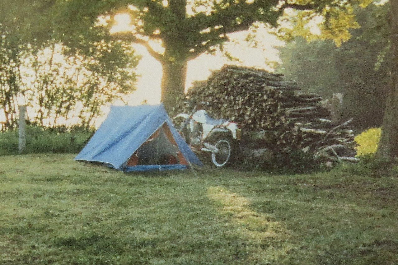 1985 Eerste keer wild kamperen? Net voor m'n legerdienst