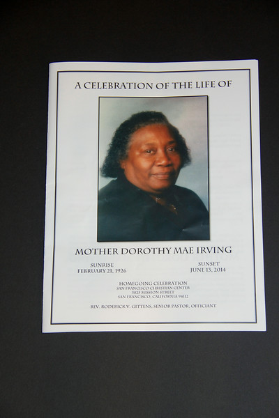 Dorothy  Mae Irving's Homegoing