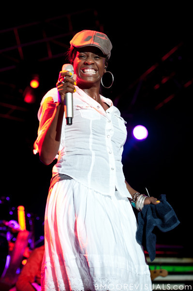 """Nirva Dorsaint-Ready performs with tobyMac on September 11, 2010 during """"Rock The Universe"""" at Universal Studios in Orlando, Florida"""