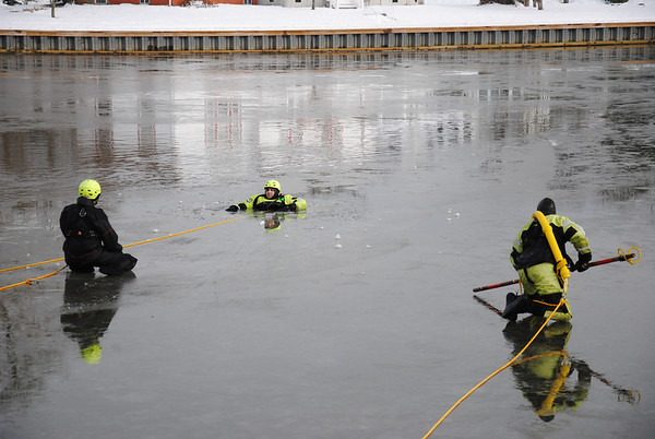 Allenhurst Water Rescue Drill 1-12-14