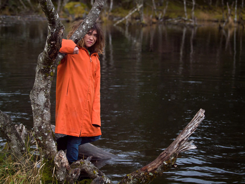 My daughter at Dredge Lake in the fall. October 24th, 2010.