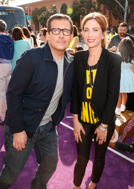 . Actor Steve Carell, left, and Kristen Wiig arrive at the 26th annual Nickelodeon\'s Kids\' Choice Awards on Saturday, March 23, 2013, in Los Angeles. (Photo by Todd Williamson/Invision/AP)