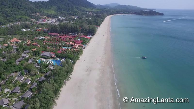 Klong Dao Beach Aerial View