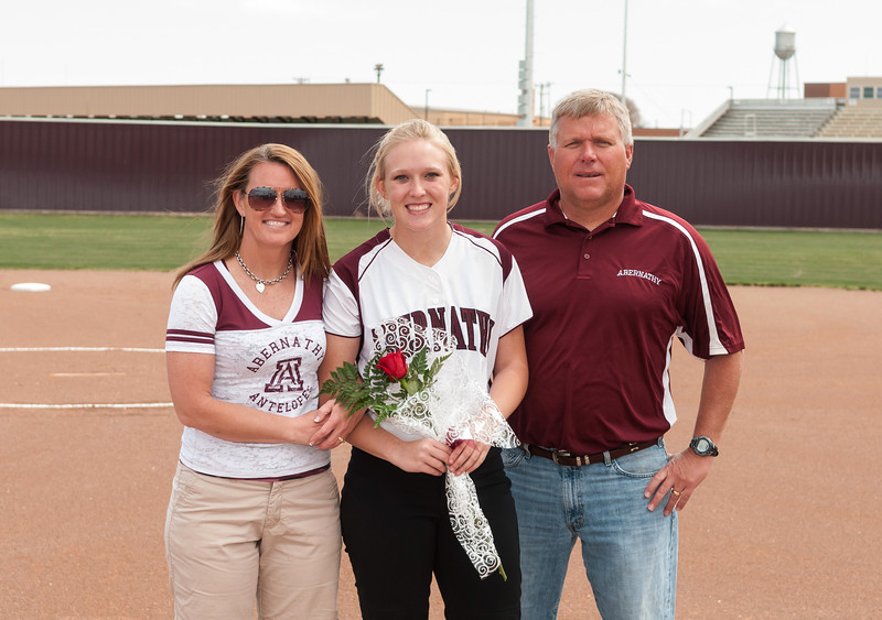 Lady Lope Softball, Sr. Last Home Game vs Floydada, 4-13-2013