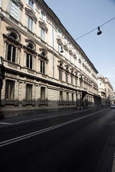 Facade of Doria Pamphili palace, Via del Corso, Rome