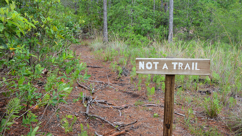 Not a Trail sign
