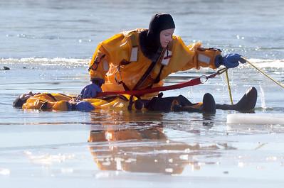 Ice Rescue Training Louisville & Rocky Mountain Fire