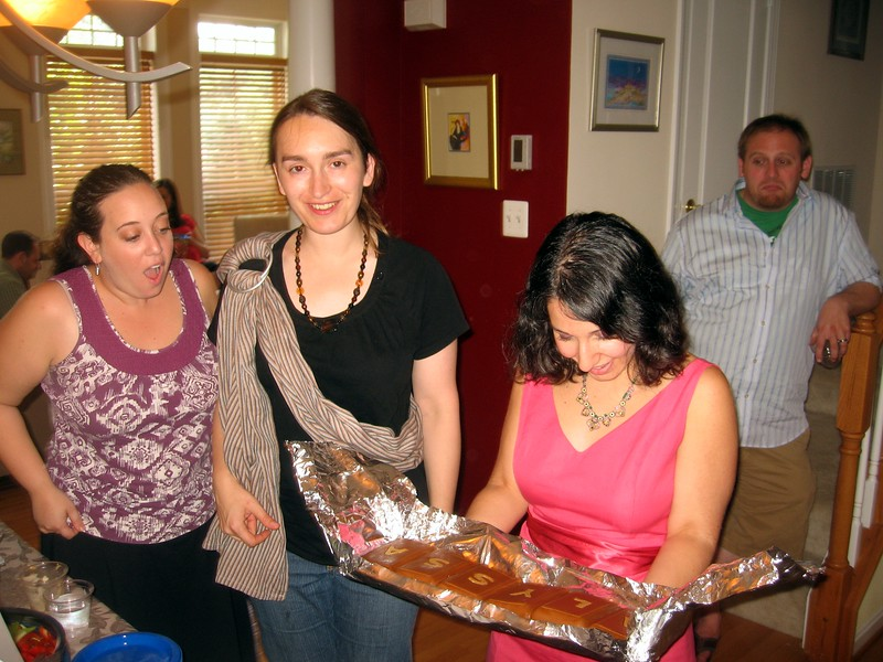 Alyssa admires her cake