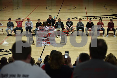 2/19/17 Fort Dodge Wrestling Team Welcome Home Rally