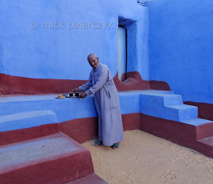 [Egypt 29653] 'Courtyard in Nubian house at Nagaa Al Hamdelab.'
