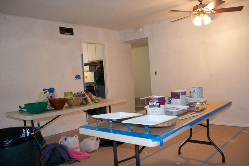 Another view of the living/dining room.