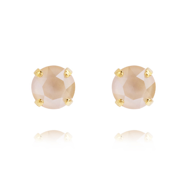 Petite Stud Earrings / Ivory Cream Gold