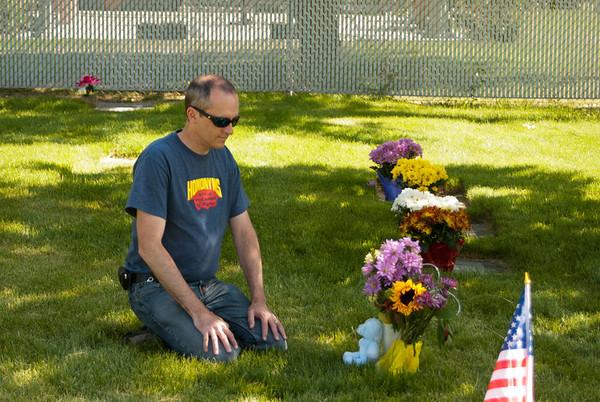 Visiting Jayden's Grave