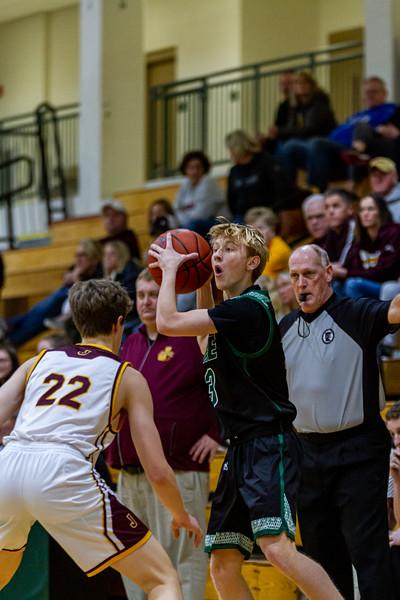 Holy Family Varsity Boys Basketball vs. Jordan, 1/23/20: Rory Johnson '20 (3)