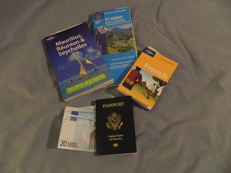 Trip Preparation:  guide book, French phrase book, passport, trail map and a stash of Euros.