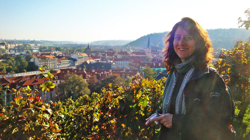 After wandering around in the chilly air all day, we were thrilled to discover this vineyard next to the castle with panoramic city views, and best of all, hot mulled wine!