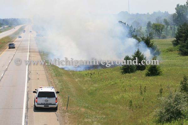 7/7/12 - Mason grass fire, Southbound US-127 @ Barnes Rd