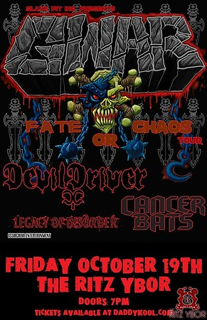 "GWAR ""Fate of Chaos Tour"" October 19, 2012"