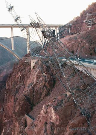 Bridge at the Nevada side. Hoover Dam