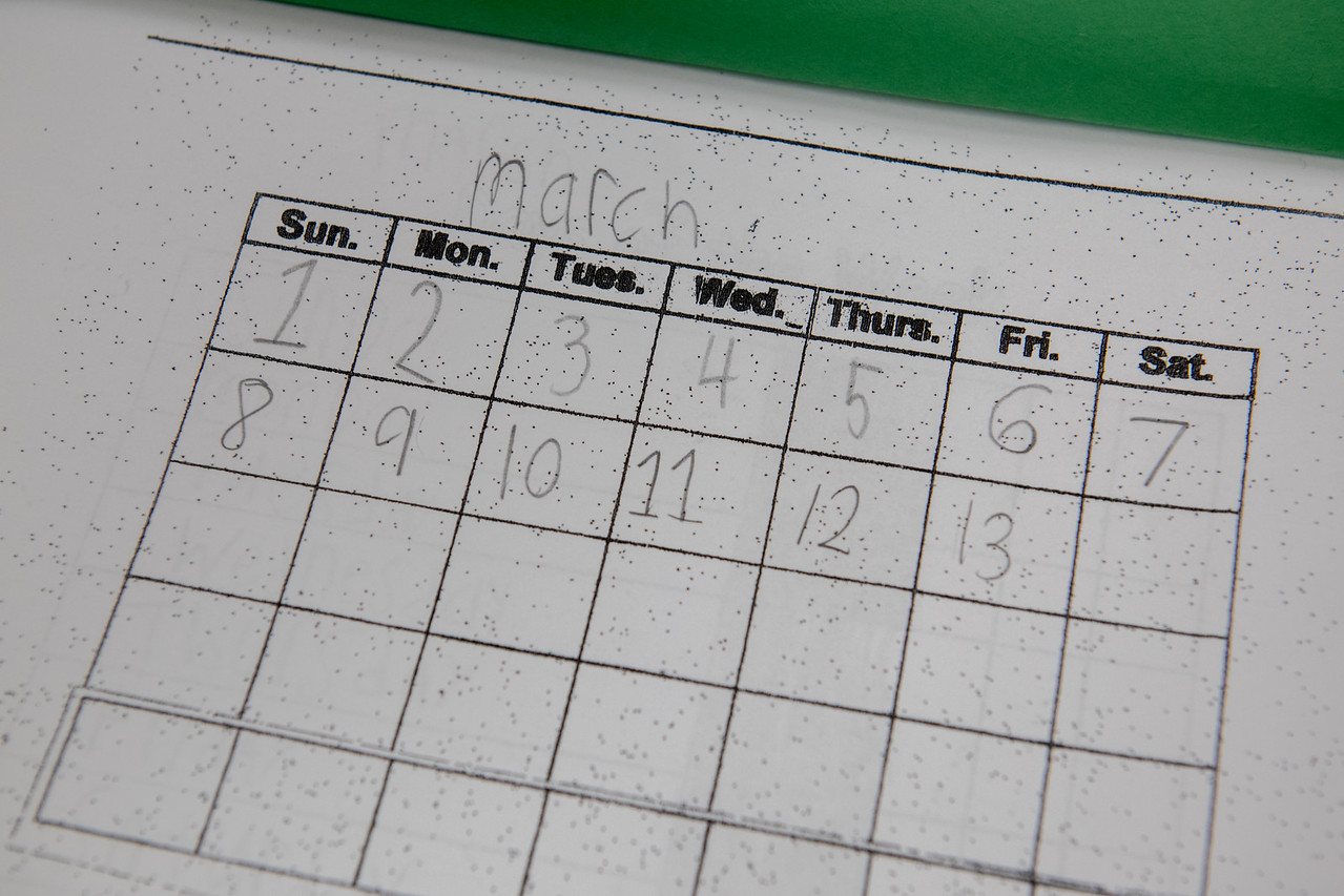 Calendar Book Found in Student's Desk
