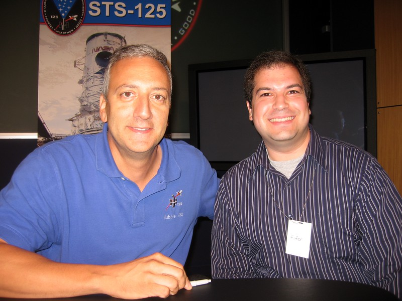 Craig with STS-125 Mission Specialist 4 Mike Massimino