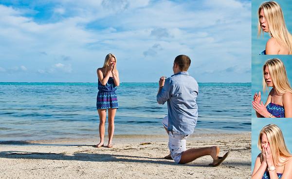 Kelly & Sarah - Proposal - Belize - 26 December 2014