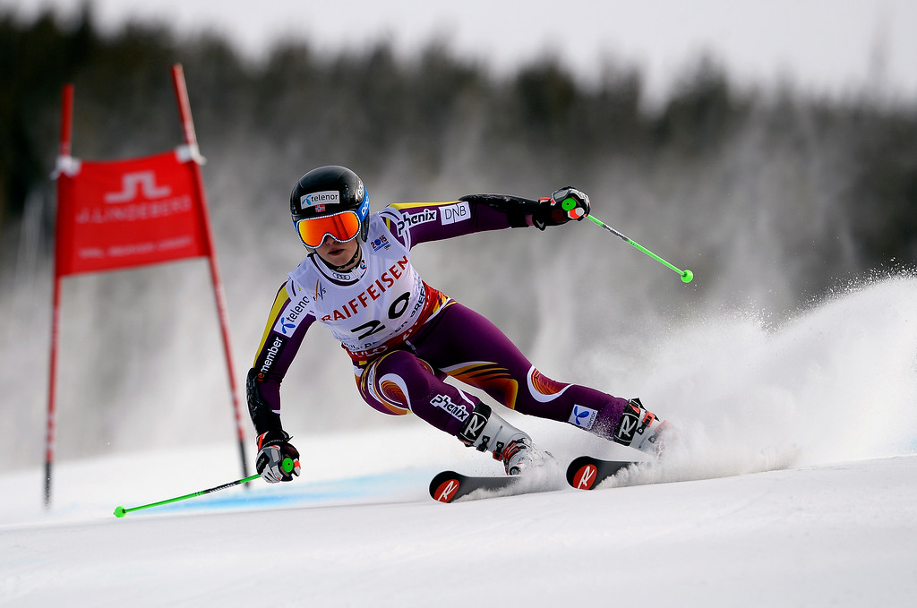 . BEAVER CREEK, CO - FEBRUARY 12: Ragnhild Mowinckel of Norway competes in the second run of the Ladies Giant Slalom event at the FIS Alpine World Ski Championships in Beaver Creek, CO. February 12, 2015. (Photo By Helen H. Richardson/The Denver Post)