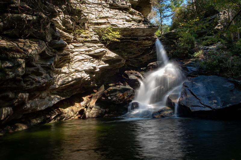 Yellow Fork Falls, Burke County (9-22-18)