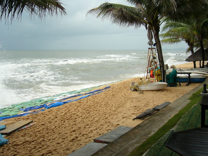 Beach on a storm day at Phu Quoc