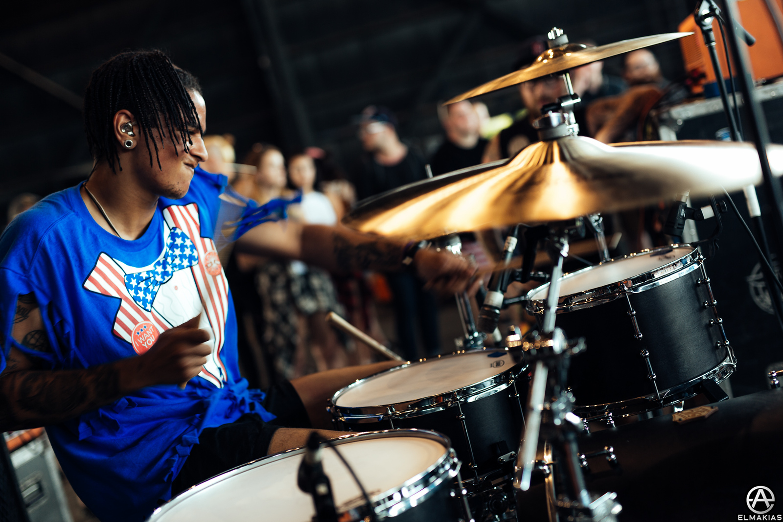 Dani Washington of Neck Deep live at Vans Warped Tour 2015 by Adam Elmakias