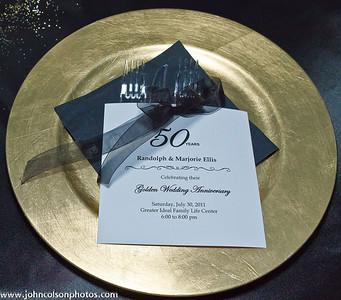 Randolph and Marjorie Ellis - Golden Wedding Anniversary