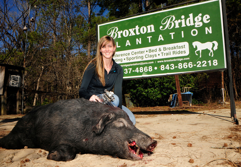 Justine Broxton Bridge Boar Hog Jan 2012.jpg