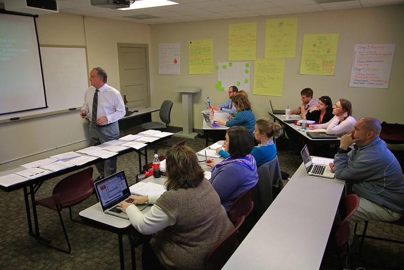 Dr. Eury teaches a graduate class.