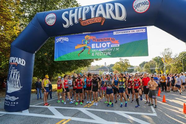2019-9-27 Eliot Festival Day 5k and Pumpkinhead Half Marathon