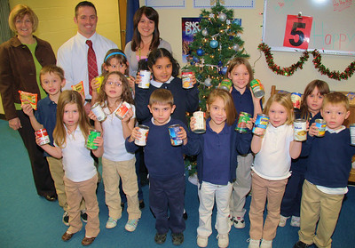 Food Donation to Tamaqua Salvation Army, Rush Elementary School, Hometown (12-16-2011)