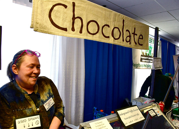 2/16/2019 Mike Orazzi | Staff Underground Truffles' Lisa McDonald during the 34th annual Bristol Home & Business Show at Bristol Eastern High School on Saturday.