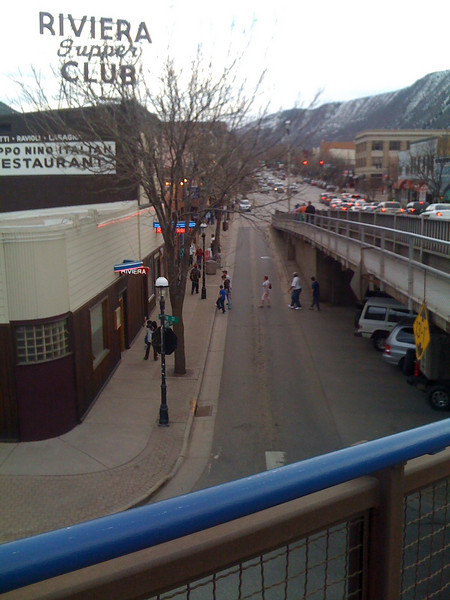 A view of downtown Glenwood Springs