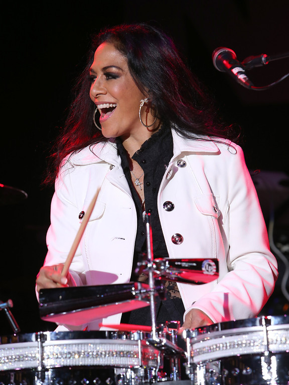 . ANAHEIM, CA - JANUARY 24:  Musician Sheila E. attends the 2014 National Association of Music Merchants show at the Anaheim Convention Center on January 24, 2014 in Anaheim, California.  (Photo by Jesse Grant/Getty Images for NAMM)