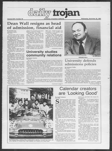 Daily Trojan, Vol. 94, No. 58, November 30, 1983