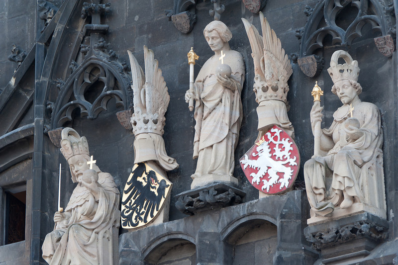 Religious statues in Prague, Czech Republic