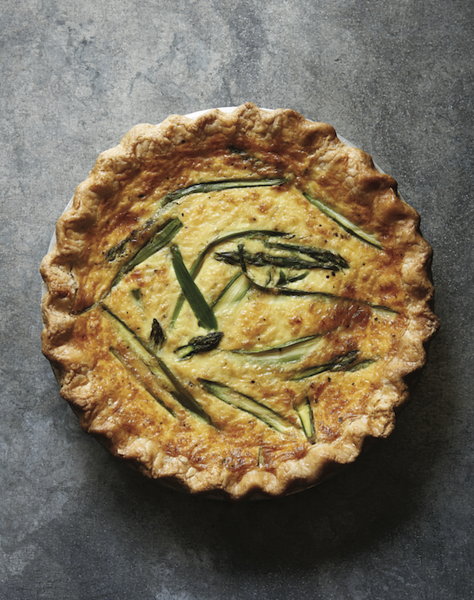 Asparagus and Fontina Quiche